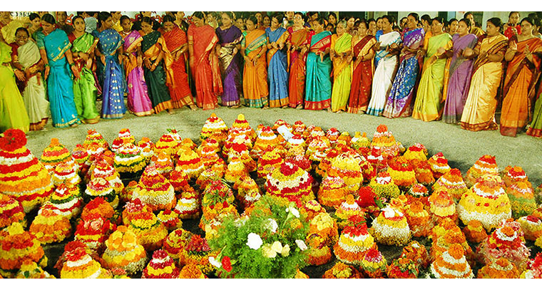 Image result for bathukamma