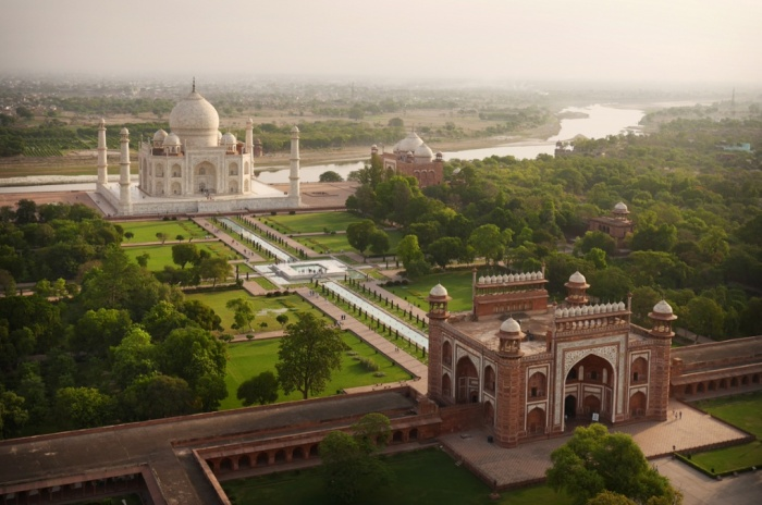 Taj Mahal Garden. One of the most important historic features of the city  of Agra is the gardens that line the banks of the Yamuna River. - Taj-mahal-garden 2.jpeg